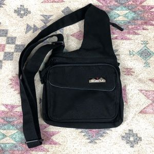 KAVU Multi Pocket Sling Style Crossbody Purse